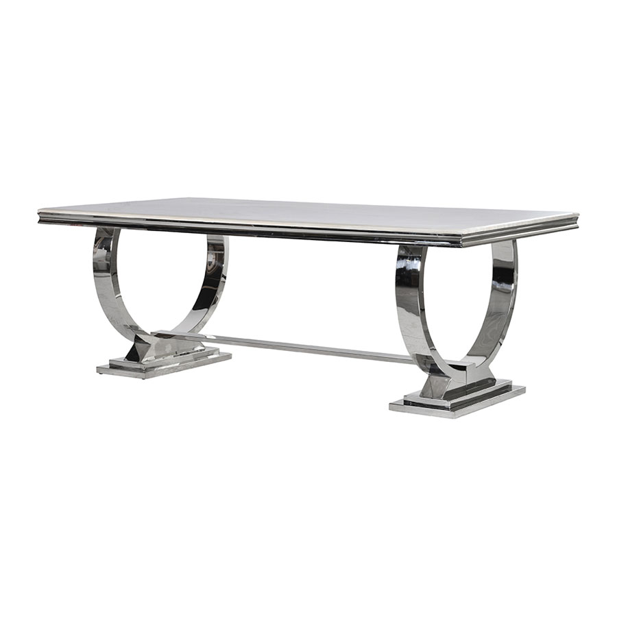 Marble Stainless Steel Dining Table