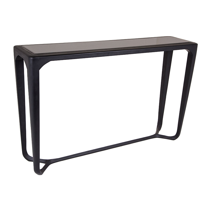 moneen black shagreen console