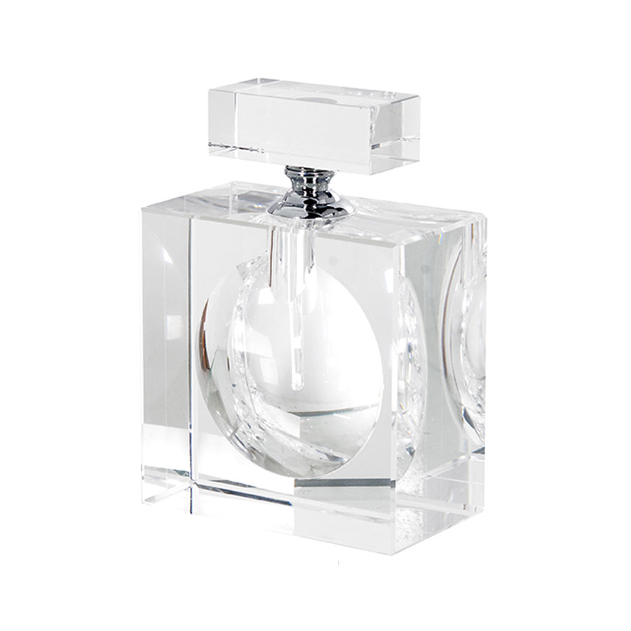 Large Flat Crystal Perfume Bottle