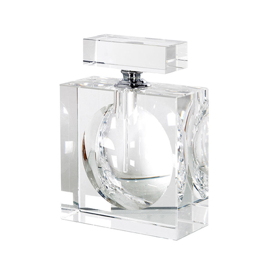 Small Flat Crystal Perfume Bottle
